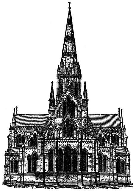Gothic Architecture - Salisbury Cathedral   ClipArt ETC