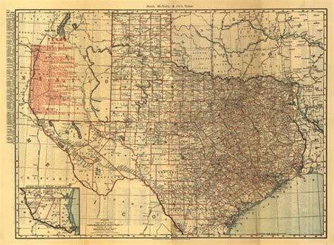 Map of Texas / Oklahoma 1900 – Research History
