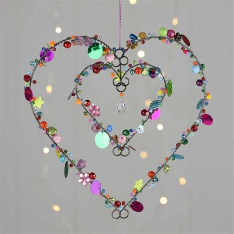 Heart within a Heart (With images) | Heart crafts, Sequin
