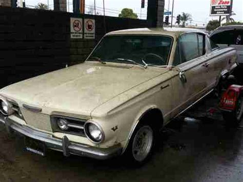 Buy used 1964 PLYMOUTH BARRACUDA FASTBACK WITH UNDER DASH