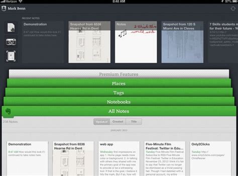 """How to Use the Mobile App """"Evernote"""" - Snapguide"""