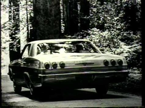Classic 1960's Chevrolet commercial - driving thru the