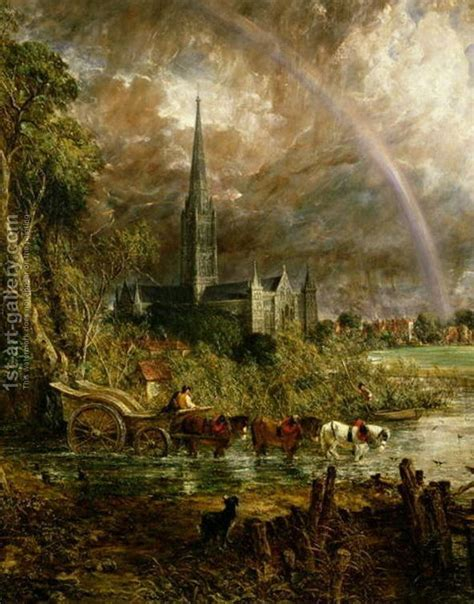 Salisbury Cathedral From the Meadows, 1831 (detail) - John